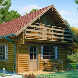 Case in legno con sistema Blockhaus