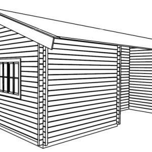 Penta lo spazioso bungalow in legno blockhaus | Legnonaturale.COM