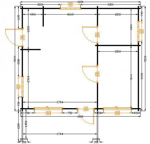 Montalto il pratico bungalow in legno blockhaus | Legnonaturale.COM