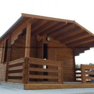 Trilocale grande il bungalow in legno blockhaus per campeggi