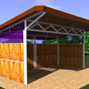 Gold la spaziosa capannina in legno per cavalli | Legnonaturale.COM