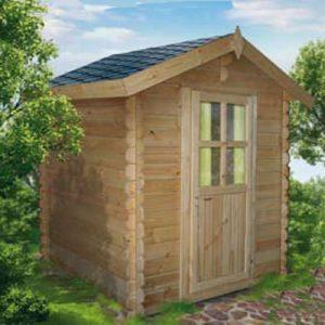 Arezzo la piccola e solida casetta attrezzi in legno blockhaus