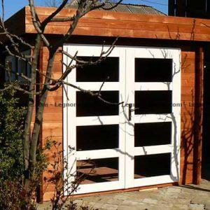 Grosseto la casa attrezzi in legno con il tetto a unica falda