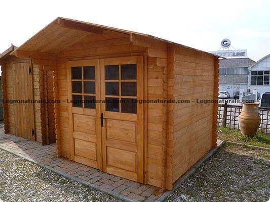 Molise la casa da giardino in legno con doppia porta | Legnonaturale.COM