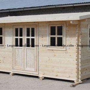 Perugia la lineare casa da giardino in legno blockhaus