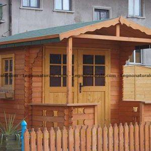 Tusa la casa da giardino in legno con veranda inclusa