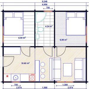 a luminosa casa in legno blockhaus | Legnonaturale.COM