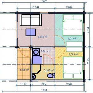 Belice la casa in legno blockhaus con isolamento termico