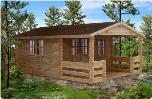 Milano la robusta casa in legno blockhaus dalle medie dimensioni
