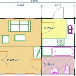 Piemonte la casa in legno blockhaus soppalcata | Legnonaturale.COM