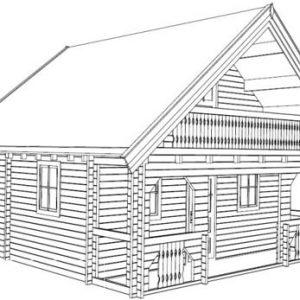 Sambuca la casa in legno blockhaus su due livelli | Legnonaturale.COM