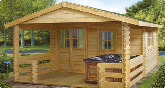 Casa in legno blockhaus modello Sassari