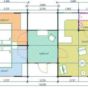 Ustica la spaziosa casa in legno blockhaus | Legnonaturale.COM