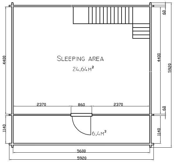 Sambuca la casa in legno blockhaus su due livelli   Legnonaturale.COM