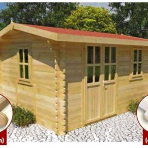 Merì stabile casa da giardino in legno blockhaus | Legnonaturale.COM