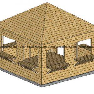 Chiosco in legno modello Naxos