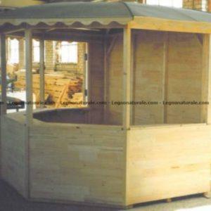 Chiosco esagonale in legno modello Playa