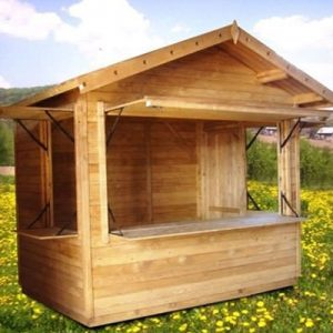 Chiosco in legno modello Ibiza