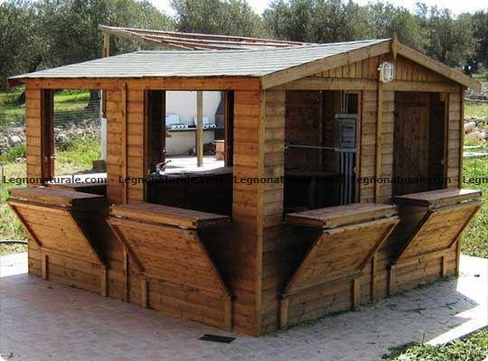Chiosco in legno modello Mojito