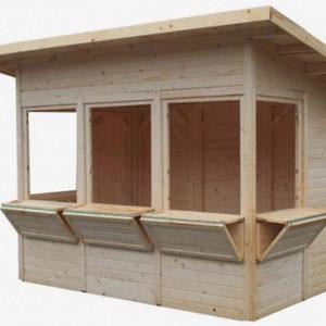 Chiosco rettangolare in legno modello Zancle