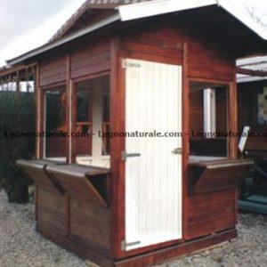 Chiosco quadrato in legno modello Indigo