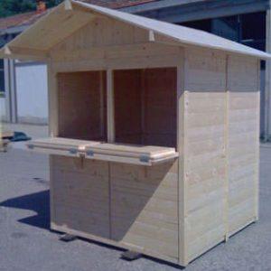 Chiosco quadrato in legno modello Mini