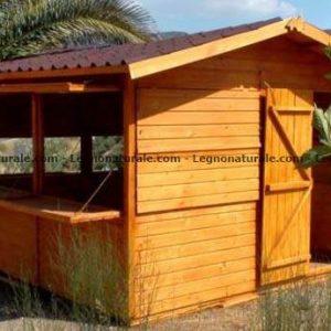 Chiosco quadrato in legno modello Salsero