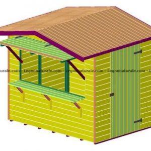 Chiosco rettangolare in legno modello Ibiza Junior