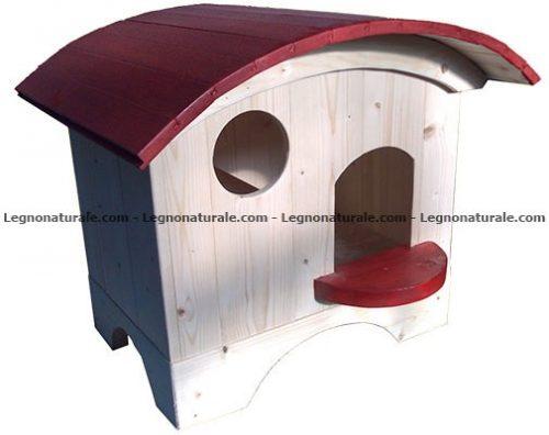 Trentino la splendida cuccia in legno a pannelli per gatti