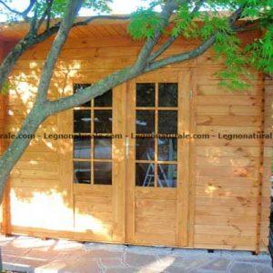 Genova piccola la casa giardino in legno con tetto ad unica falda