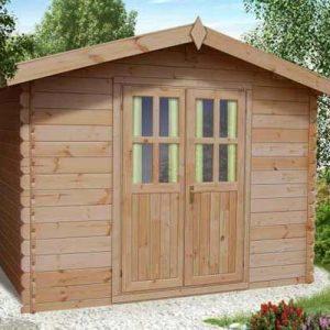 Ascot Uno solida casa da giardino in legno blockhaus