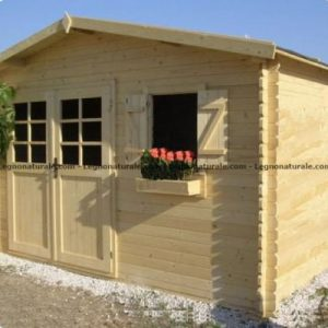 Kendal garden house in legno con robuste pareti blockhaus