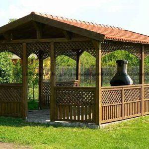 Gaggi l'elegante gazebo rettangolare in legno | Legnonaturale.COM