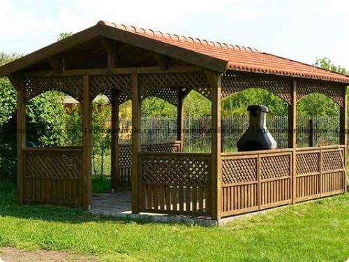 Gaggi l'elegante gazebo rettangolare in legno   Legnonaturale.COM