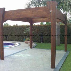 Olimpo Il gazebo realizzato in legno abete lamellare | Legnonaturale.COM