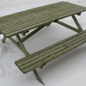 Set pic-nik in legno completo di tavole e panche | Legnonaturale.COM